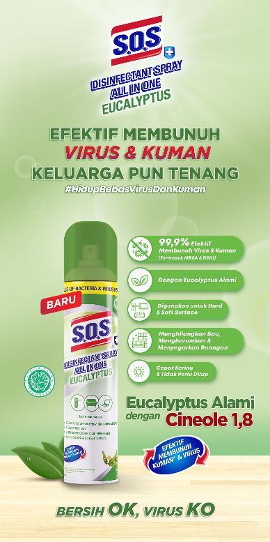 Kandungan SOS Disinfectant Spray ini Bisa Melindungi Keluarga dari Virus!