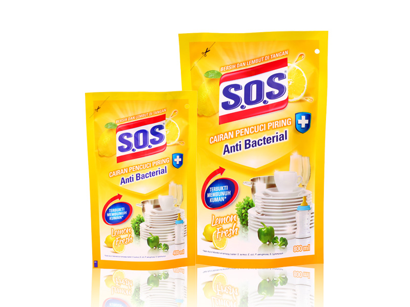 SOS Cairan Pencuci Piring Anti Bacterial – Lemon Fresh