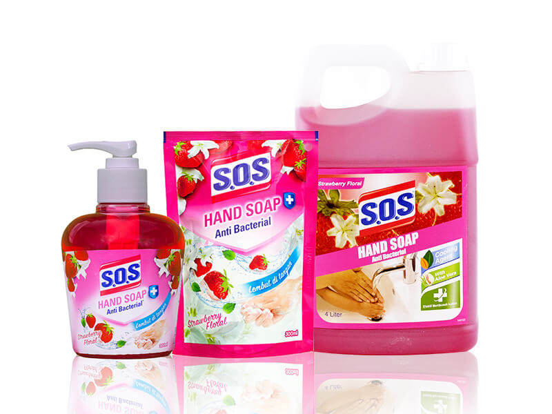 SOS Hand Soap Fragrance Anti Bacterial - Strawberry