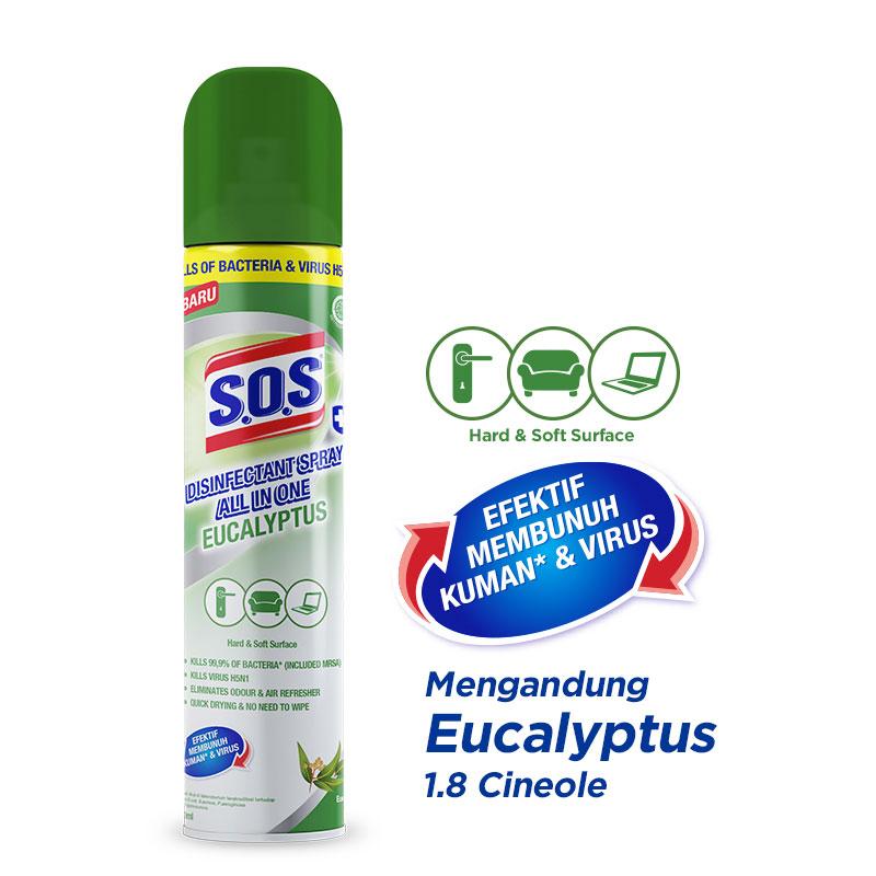SOS Disinfectant Spray All in One Eucalyptus 250ml
