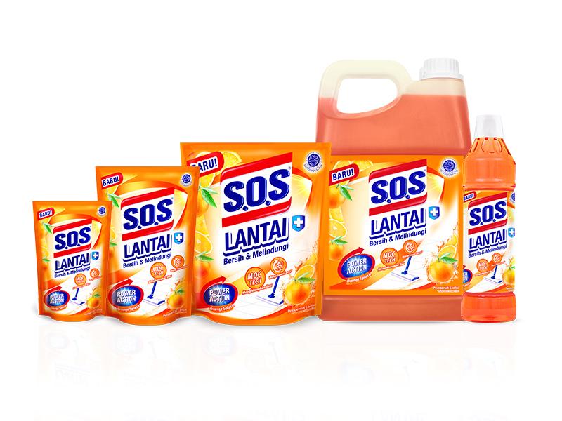 SOS Pembersih Lantai - Orange Splash