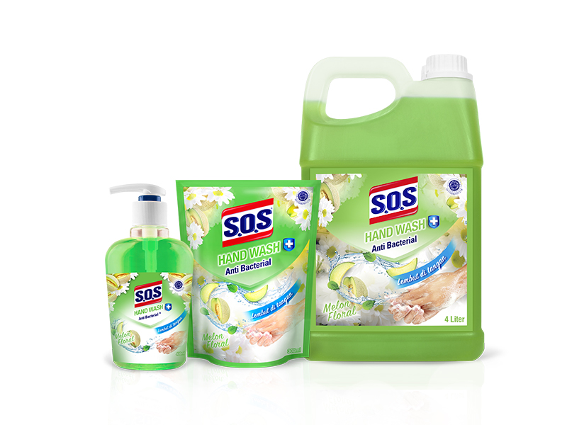 SOS Hand Soap Fragrance Anti Bacterial - Melon